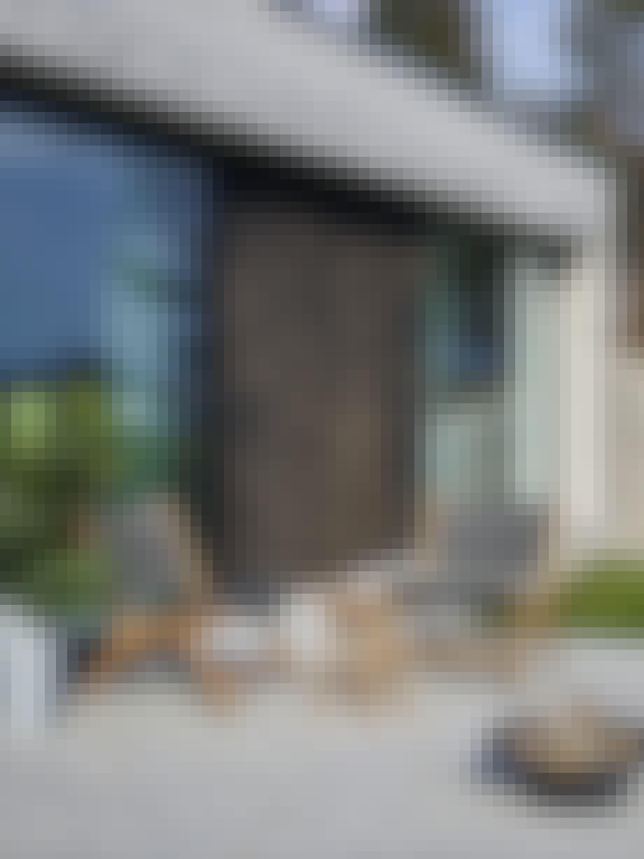 Fasade, uteområde, terrasse, utestoler