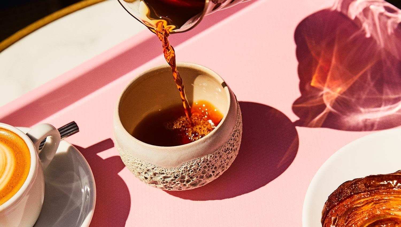 Kaffe i flot kop