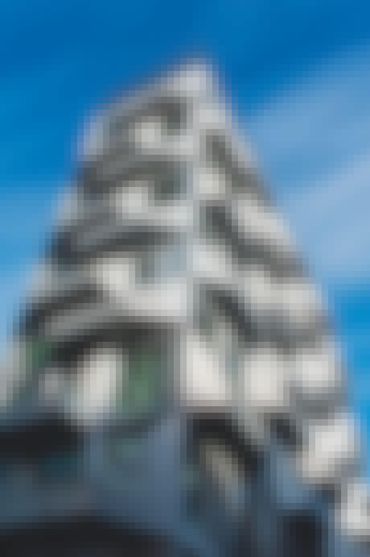 Facade på den ikoniske gamle kornsilo