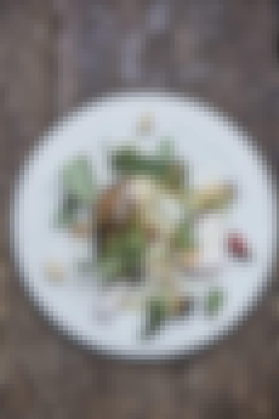 Blomkål bagt i krydderurter