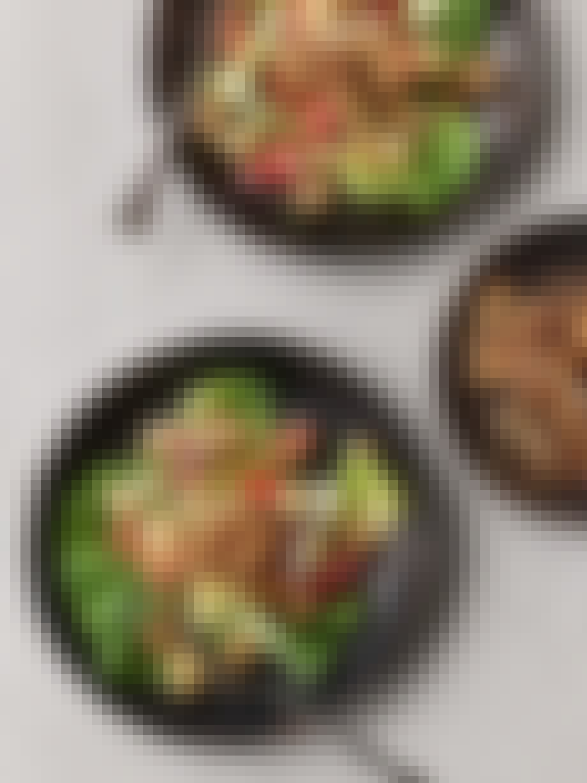Kartoffelmad serveret som salat