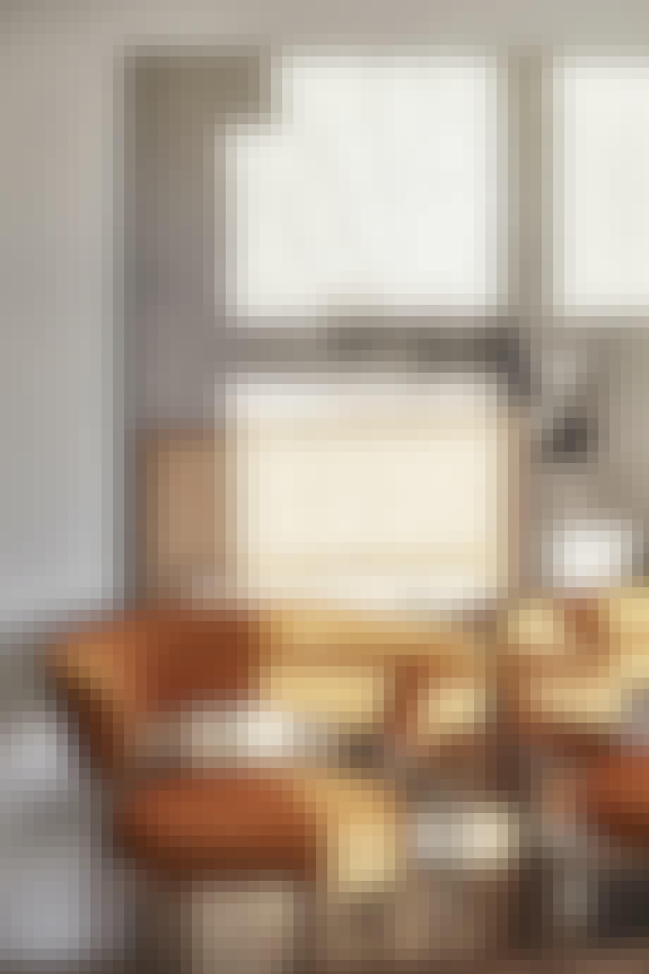 Flotte, oransje stoler