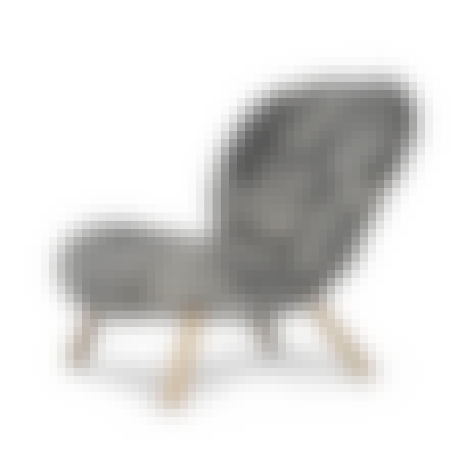 Dejlig lænestol i ukæmmet fåreskind
