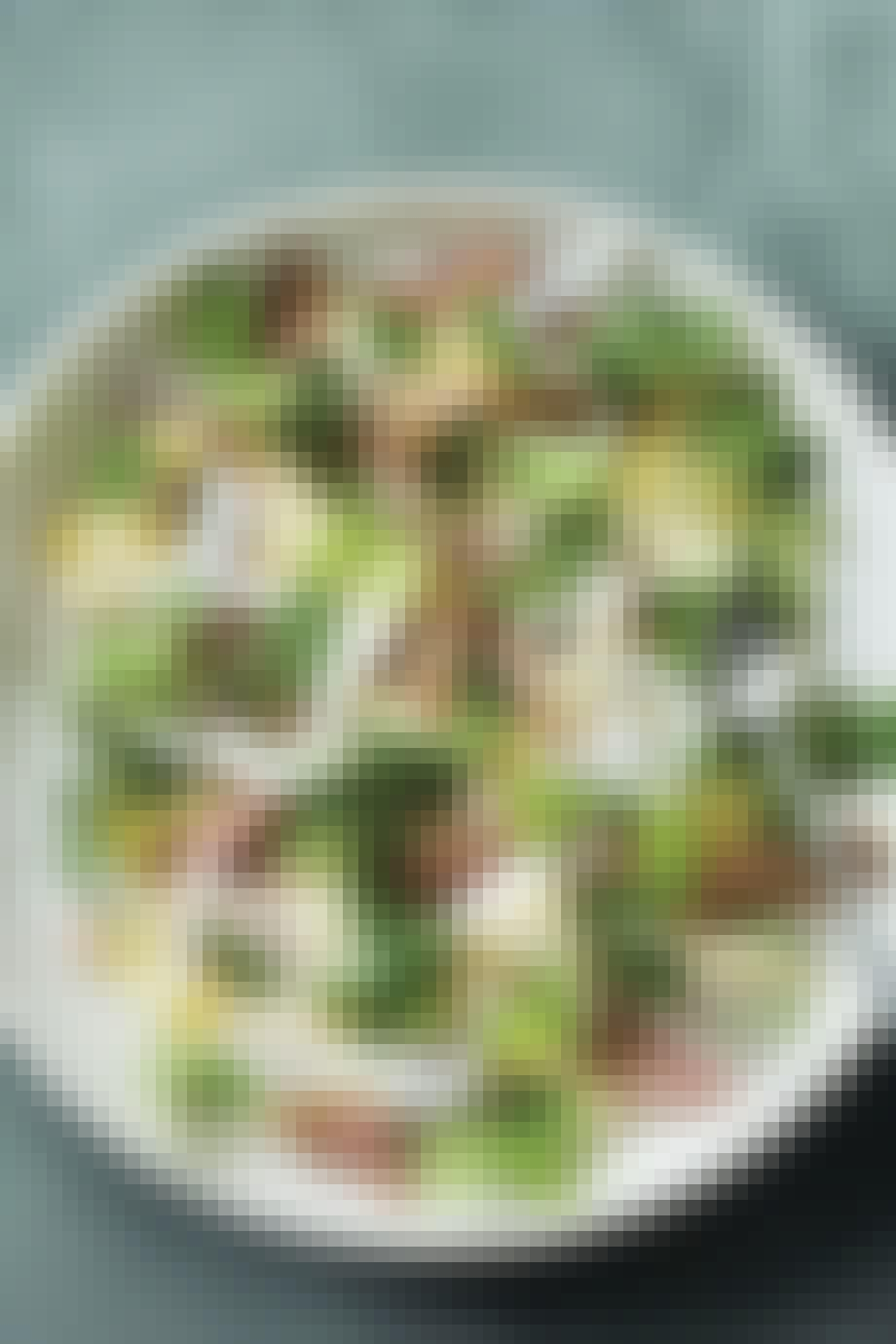 Sommersalat med grillet ibericogris