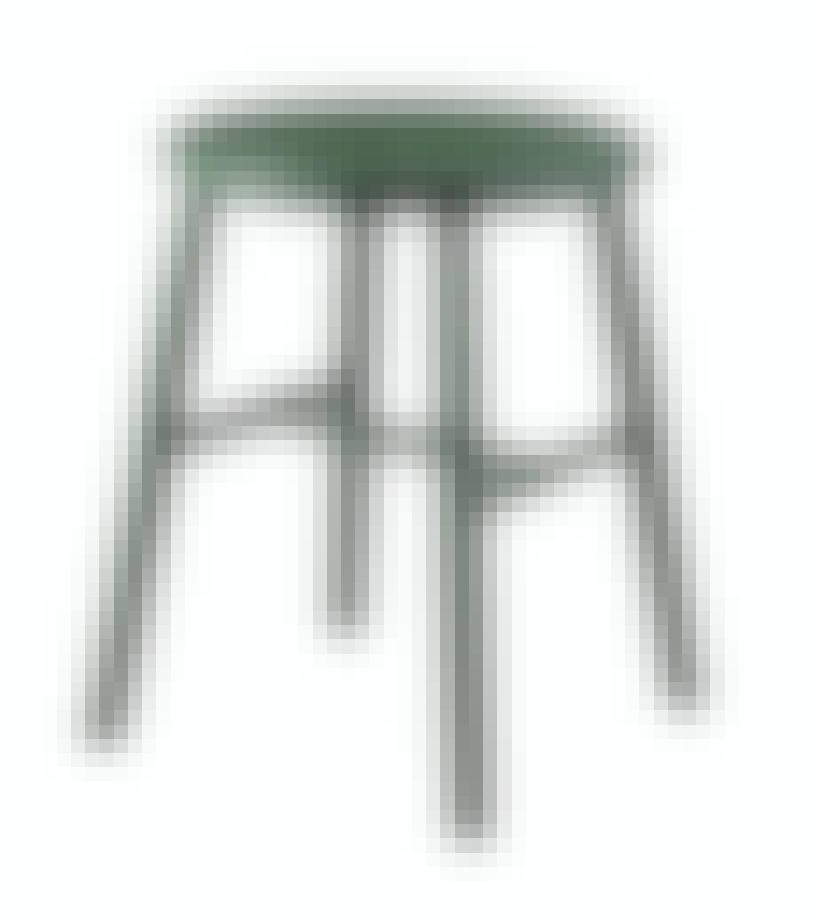Grøn skammel designet af Børge Mogensen