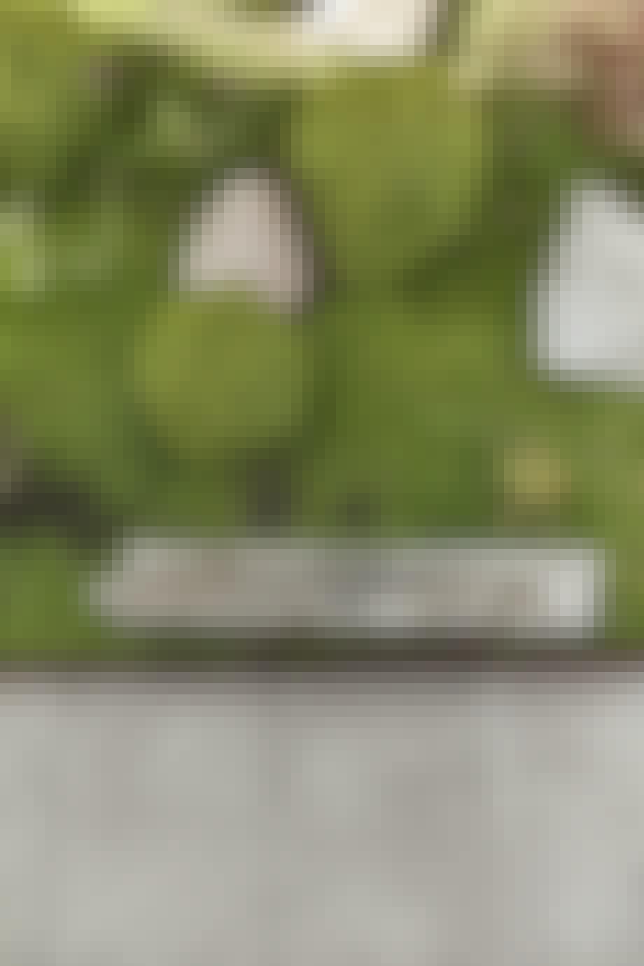 Trædebregner, buksbomkugler, granitsten og drivtømmer