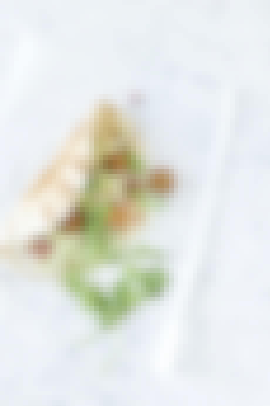 Hjemmelavet fastfood med falafel