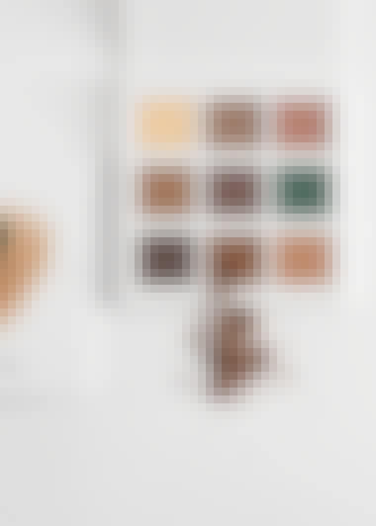 Øjenskygge-palet i kobberfarver