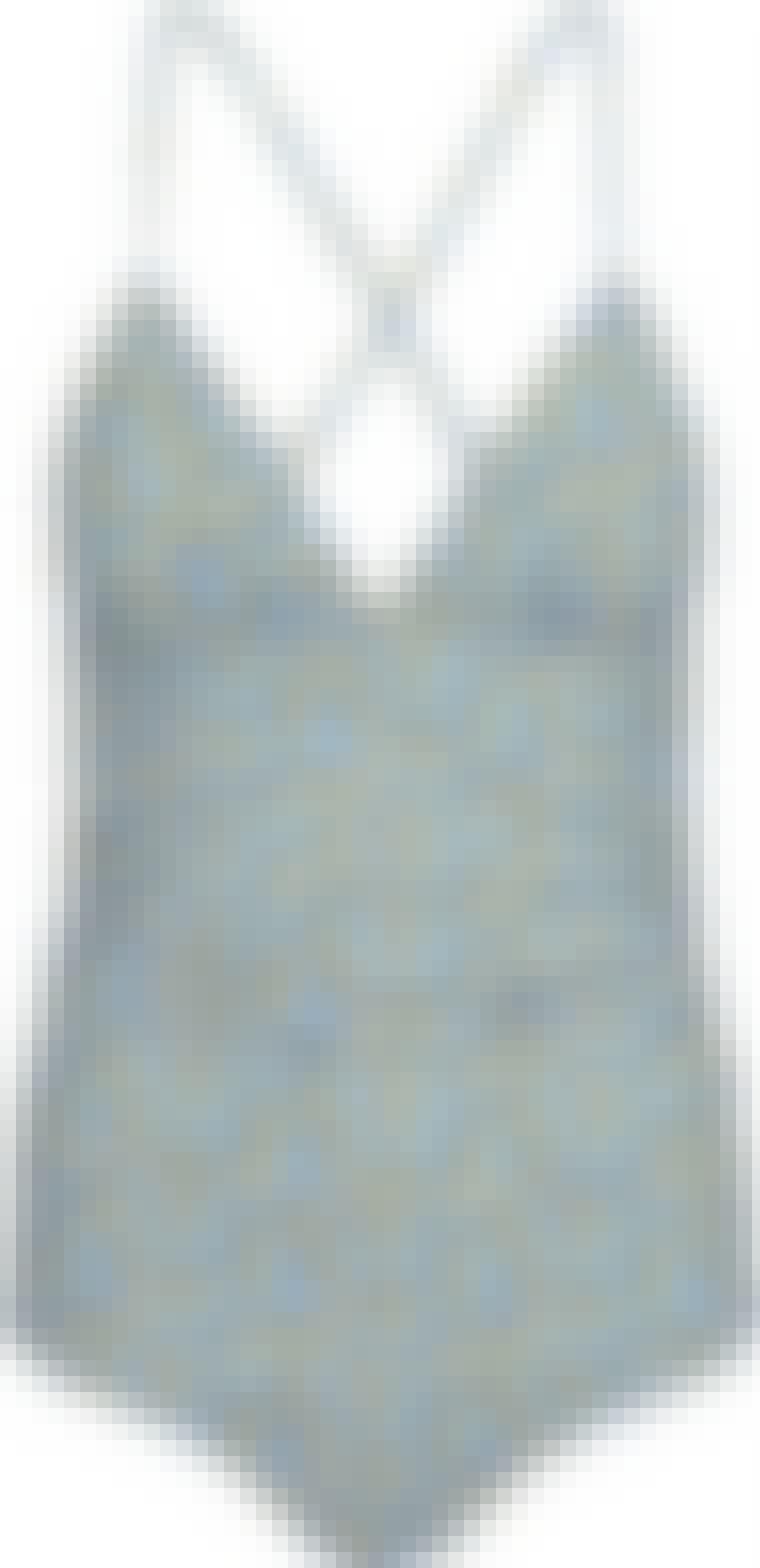Second female swimwear spraglet blå badedragt