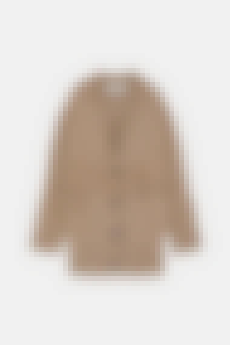 Brun flettet cardigan fra Zara