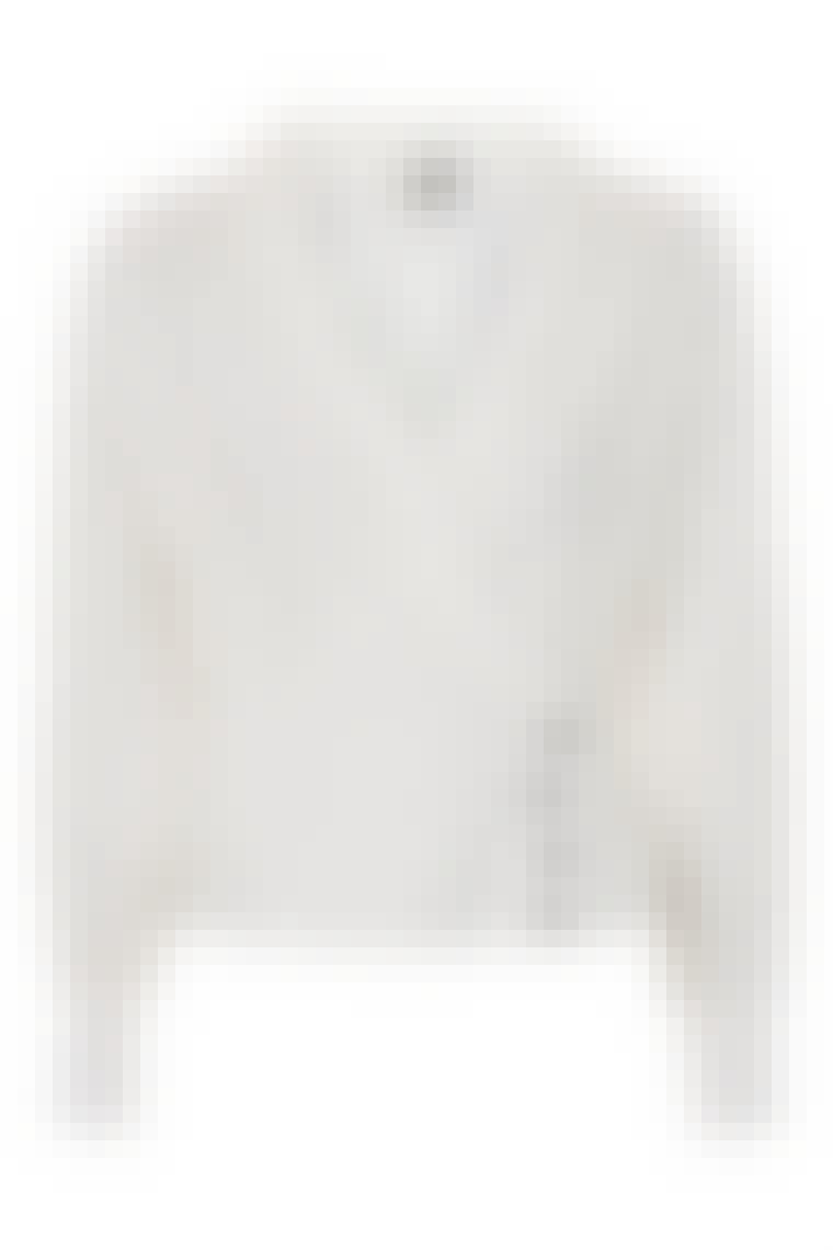 hvid retro bluse med knapper