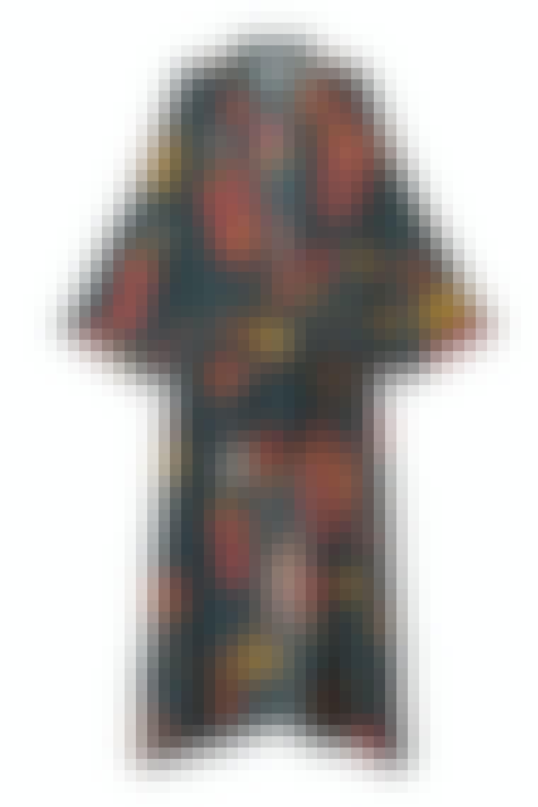 lang kimono med print