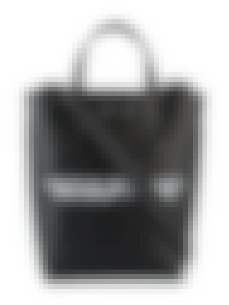 sort lædertaske