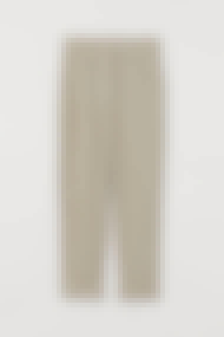 Ankellange dressbukser i lin