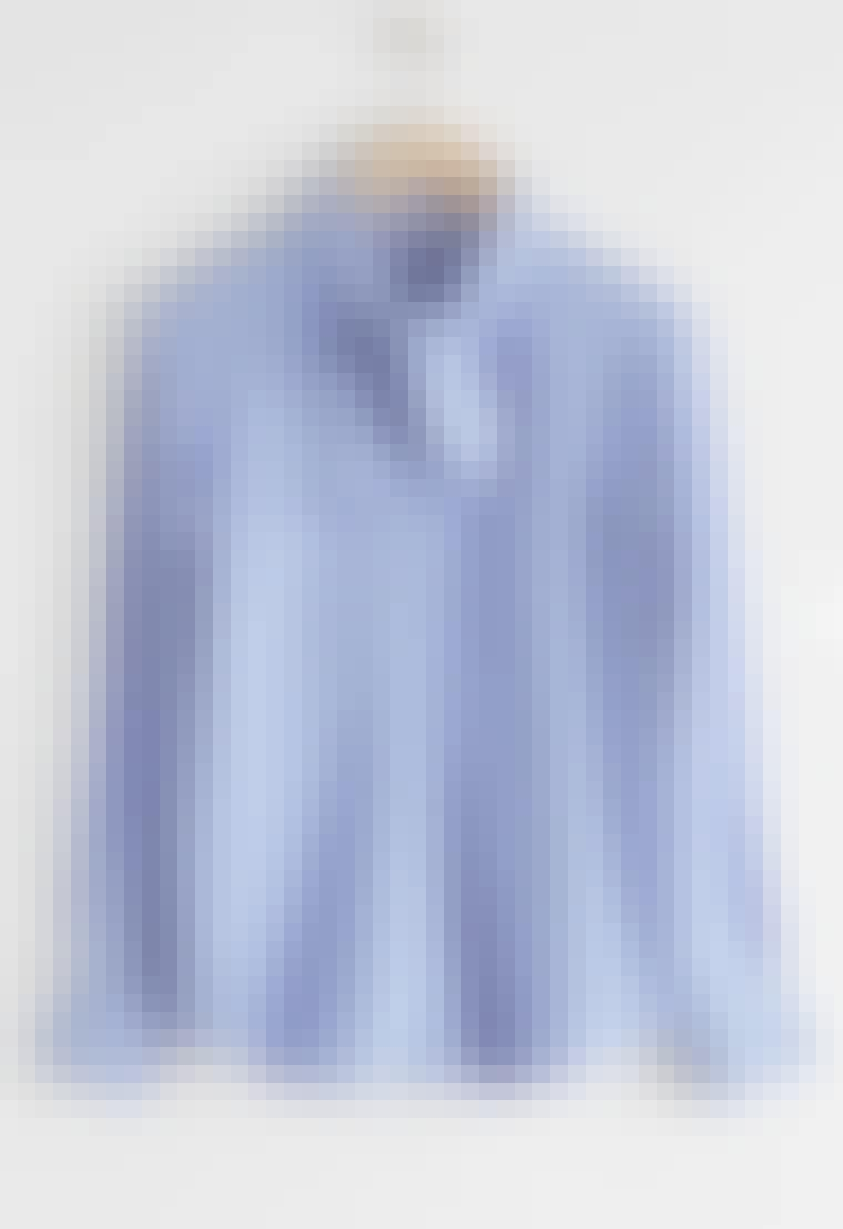 Satengskjorte i lilla