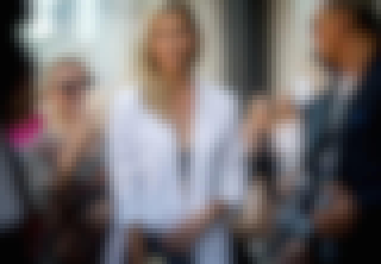 blondt hår Karlie Kloss supermodell
