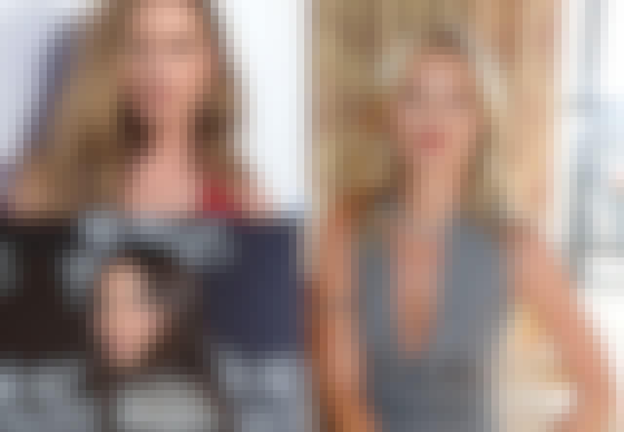 Vakre damer Amber Heard og Kate Moss