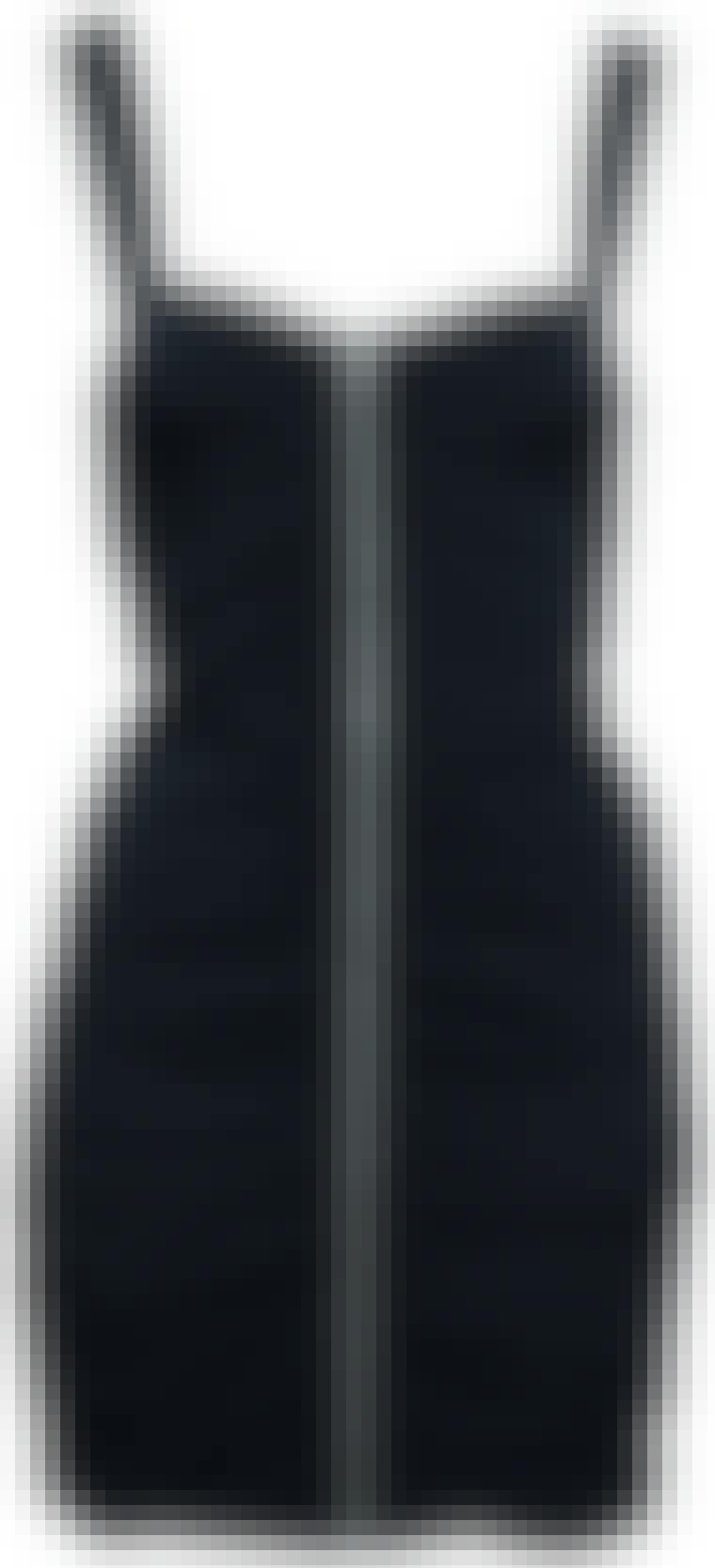 Svart kjole med glidelås fra Divided, 199 kroner.