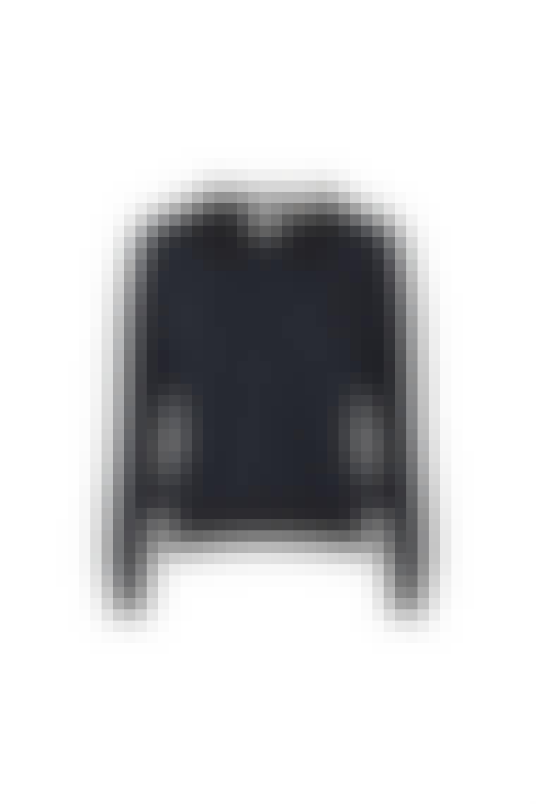 Sweatshirt med blondekrave
