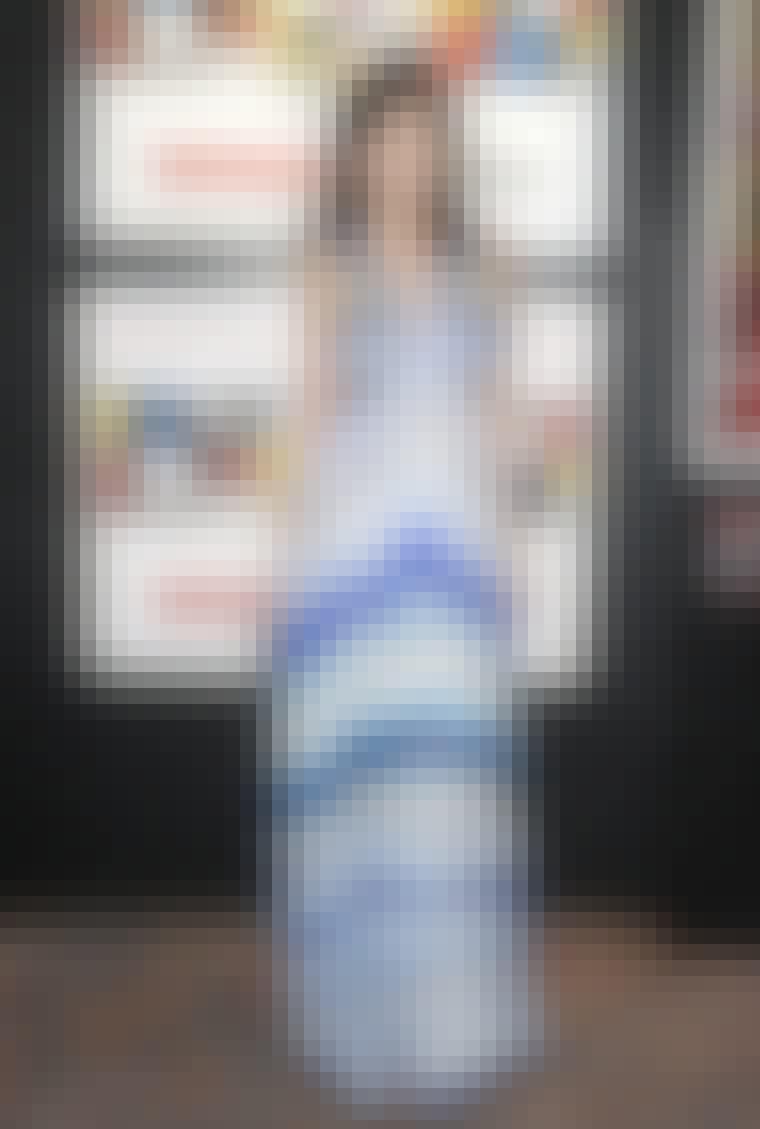 Modellen Daisy Lowe bliver ofte set i gulvlange kjoler.