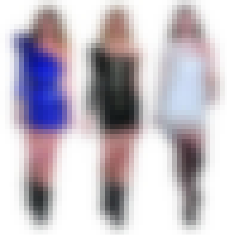 En af de helt store tendenser er asymmetriske kjoler, og blandt andre Balmain (til venstre), Herve Leger og Alexander Wang (til højre) har kreeret smukke kjoler med skæve snit denne sæson.