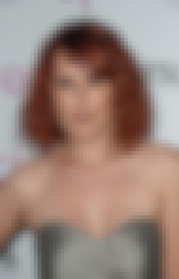 RØDT HÅR: Skuespillerinden Rumer Willis har også farvet sit hår rødt.