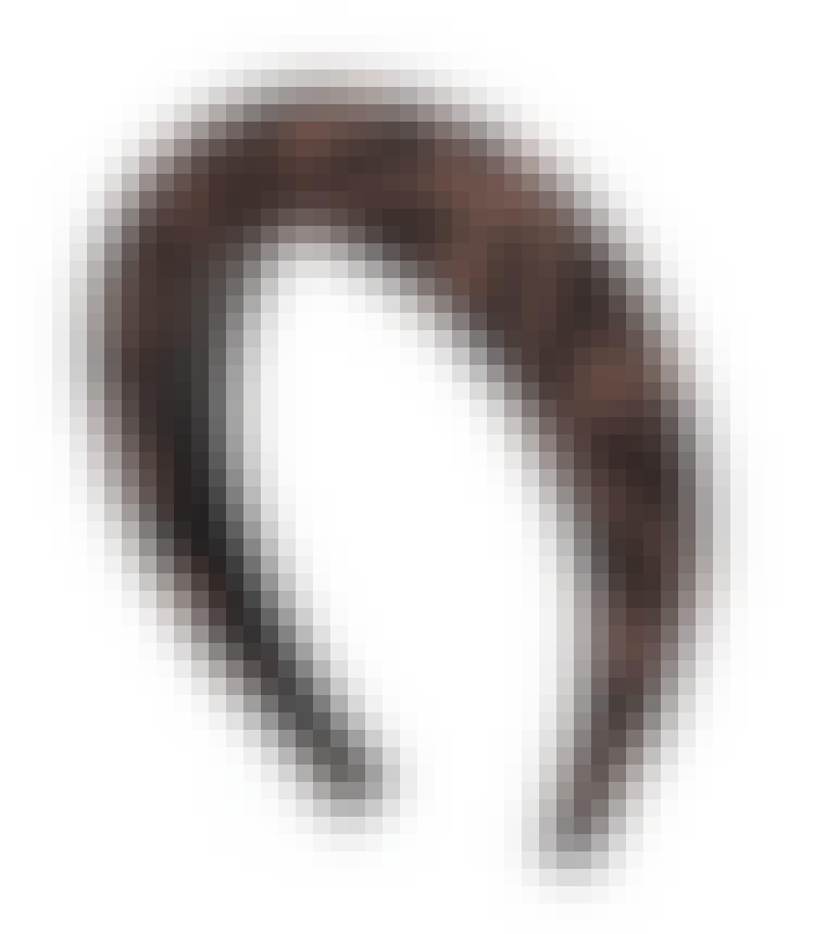 Volumiøst hårbånd med logo fra Fendi i brun og svart