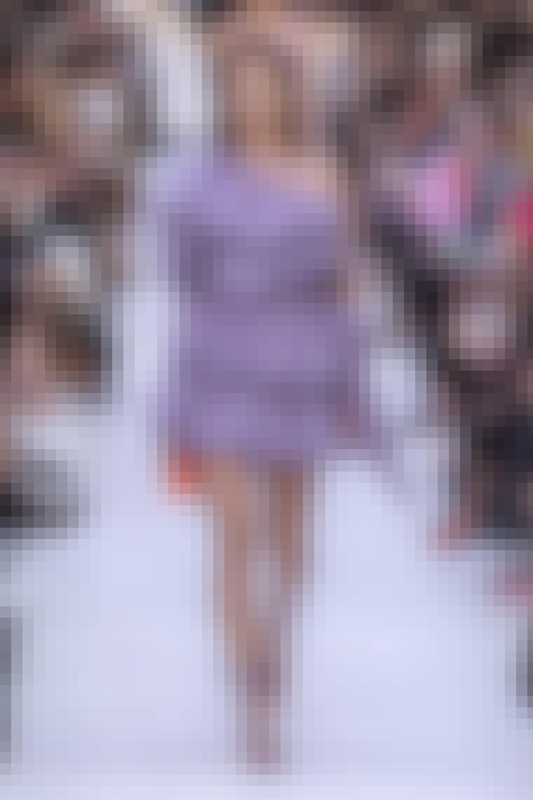 Valentino catwalk med smuk lilla kjole