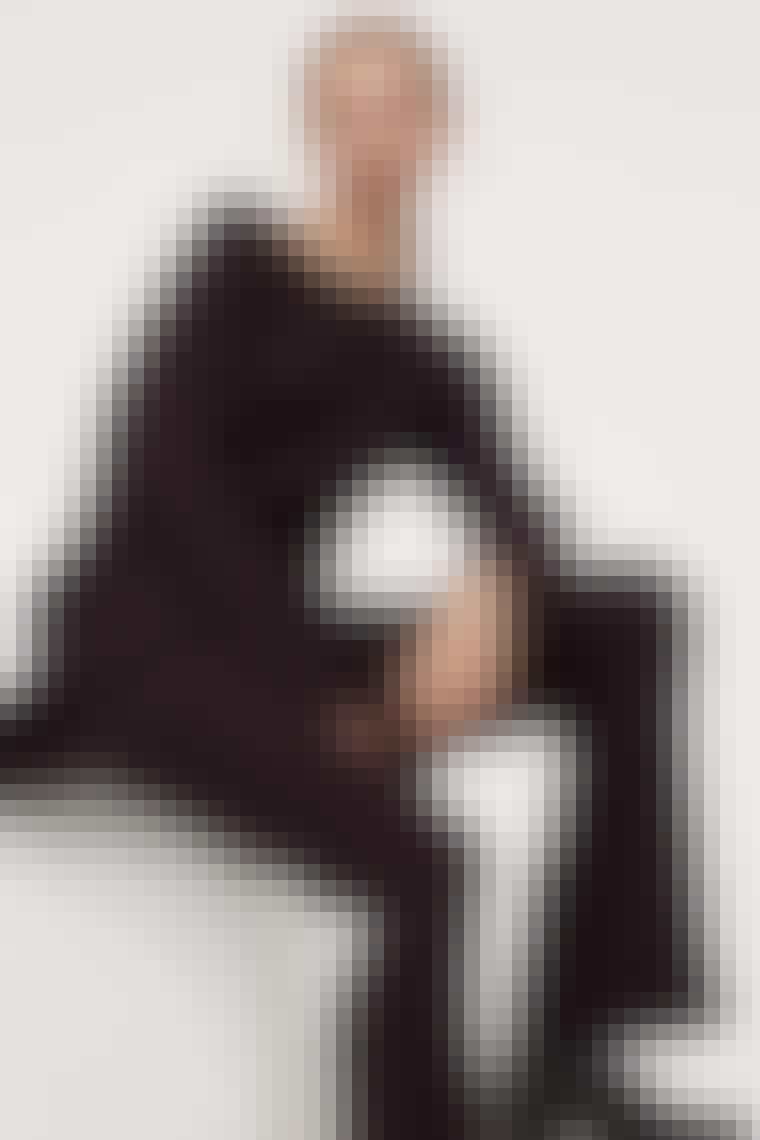 Strikbukser i merinould fra H&M