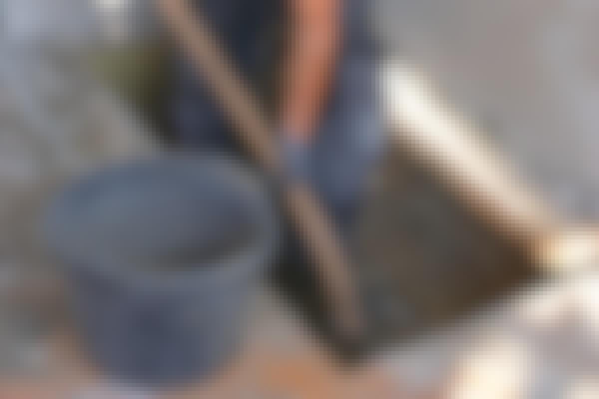 Fiskbensgolv av tegel