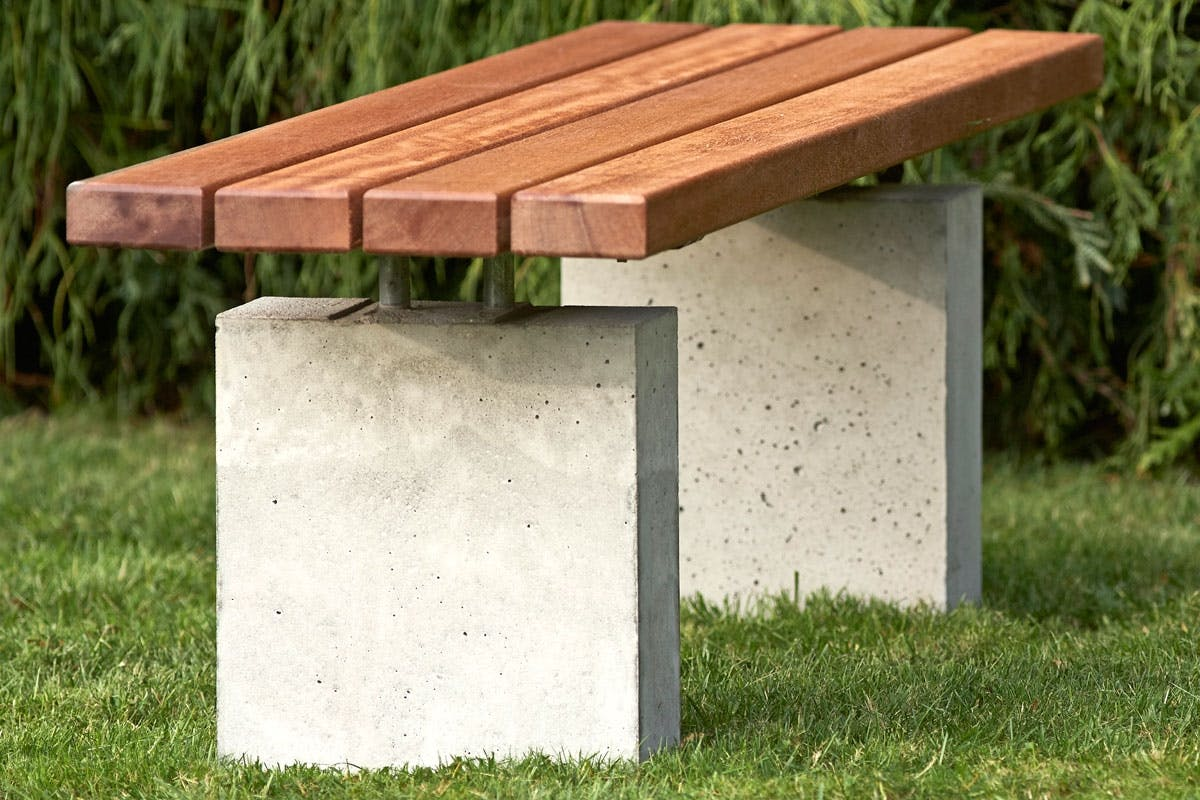 Avanceret Havebænk: Luksusbænk i træ og beton | Gør Det Selv HU43