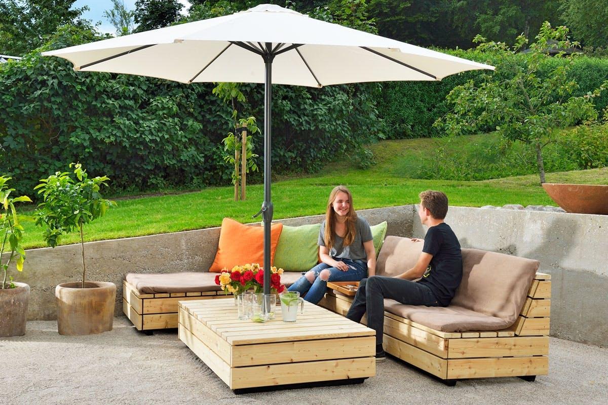 Veldig Hagemøbler: Lag en flott lounge i lerk | Gjør Det selv JT-27