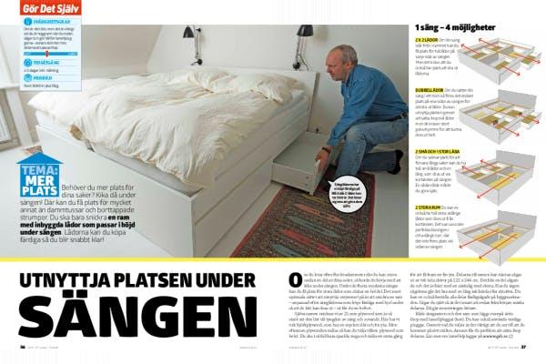 Förvaring Utnyttja platsen under sängen Gör Det Själv