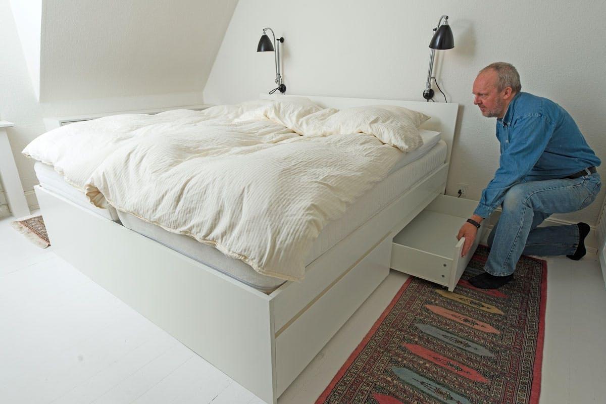 ikea dobbeltseng Opbevaring: Udnyt pladsen under sengen | Gør Det Selv ikea dobbeltseng