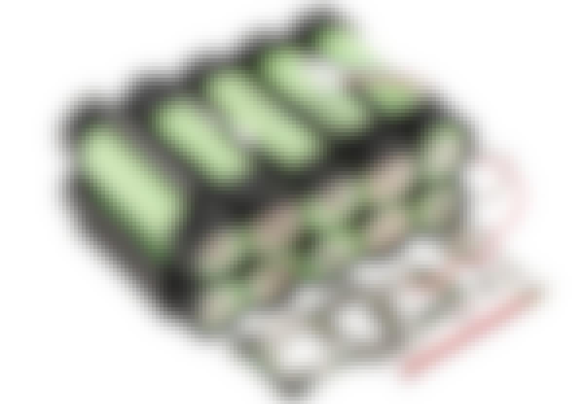 Inuti litiumjonbatteriet hittar vi hemligheten bakom dess effektivitet: Avancerad elektronik övervakar de seriekopplade, kraftfulla och återuppladdningsbara litiumjoncellerna.