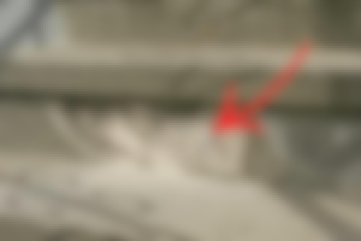 Betontrappe: Fiks revnen i betontrappen