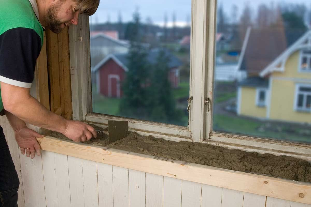 Betong – obehandlad fönsterbänk i betong | Gör Det Själv