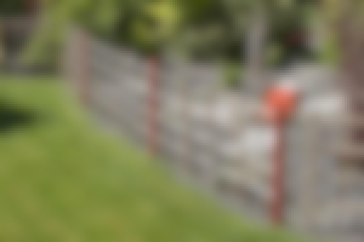 Du måste inte ha en japansk trädgård för att sätta upp det läckra staketet av bambu.