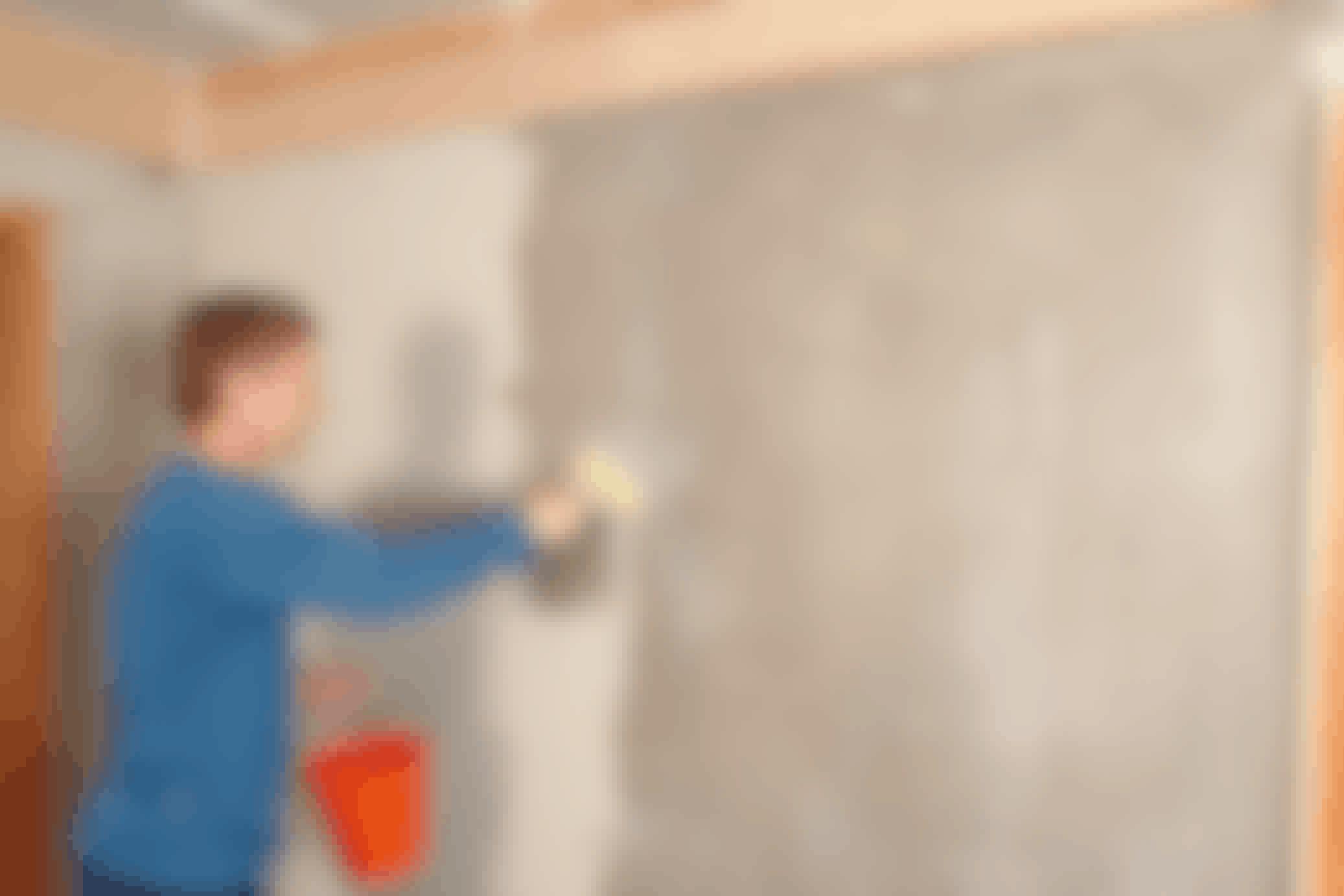 Slät vägg på en gång