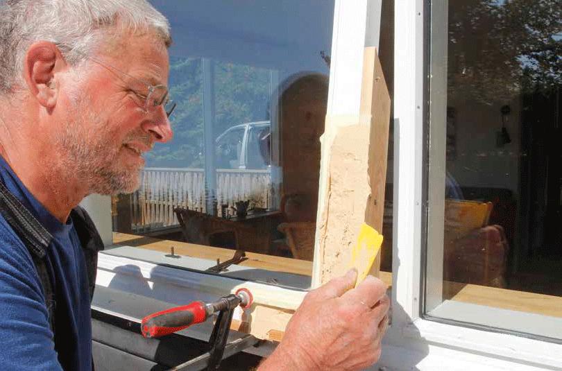laga trä utomhus
