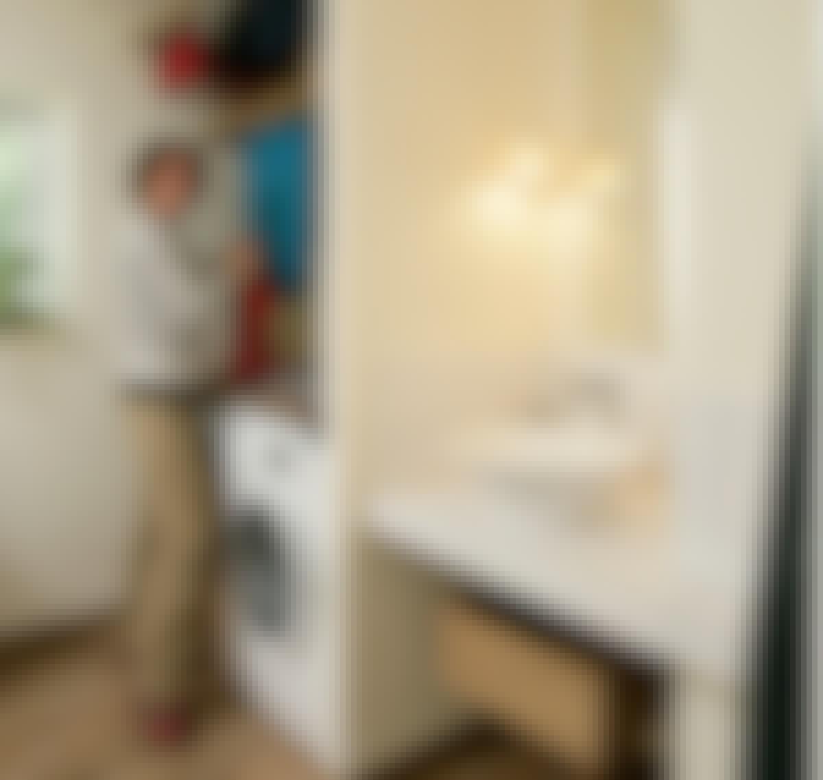 Flott vaskeplass til både klær og hender