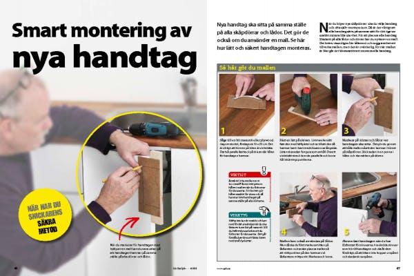 montera handtag köksluckor
