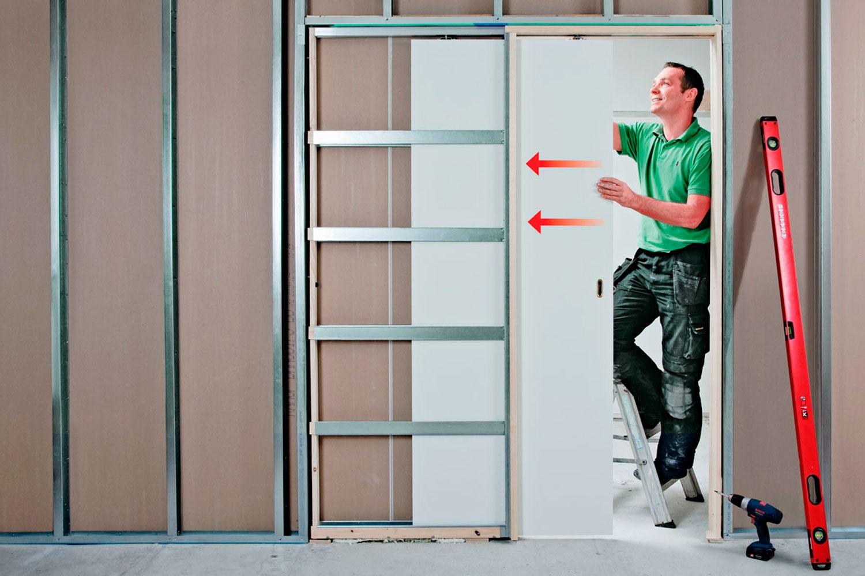 SÃ¥ bygger du en inbyggd skjutdörr   Gör Det Själv : bygga dörr : Inredning