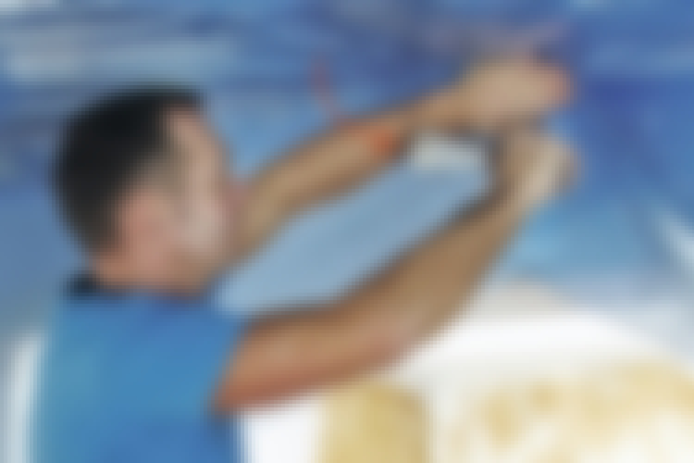 Dampsperre: Stiftemaskinen er lynrask når du skal montere dampsperre.