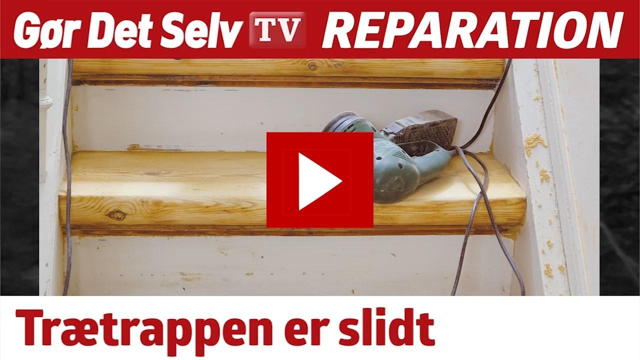 fjernelse af lak på trappe