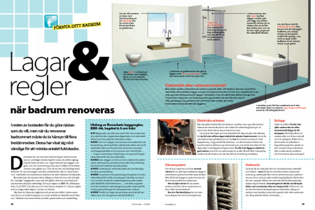 Inredning tätskikt våtrum : Lagar & regler när badrum renoveras | Gör Det Själv
