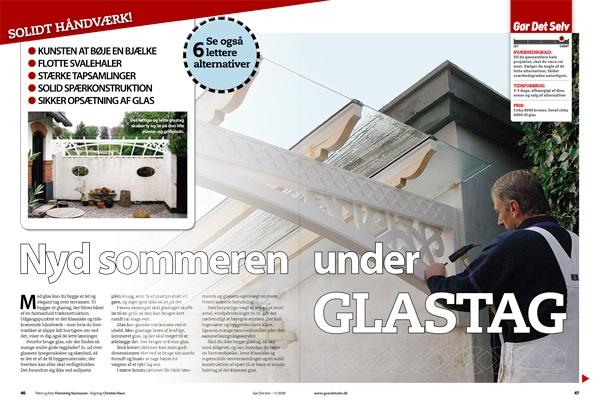 Glastag: Glastag til overdækket terrasse