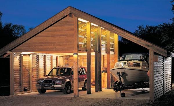 dobbelt carport med masser af plads g r det selv. Black Bedroom Furniture Sets. Home Design Ideas