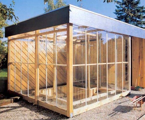 Splinterny Carport med skur drivhus og udhus | Gør Det Selv OD23