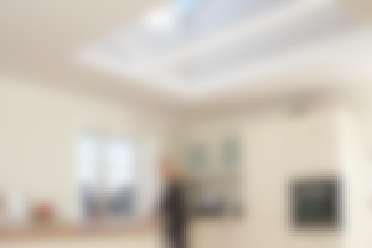Med flera utrymmen vid bredvid varandra får du mycket mer dagsljus i rummet.